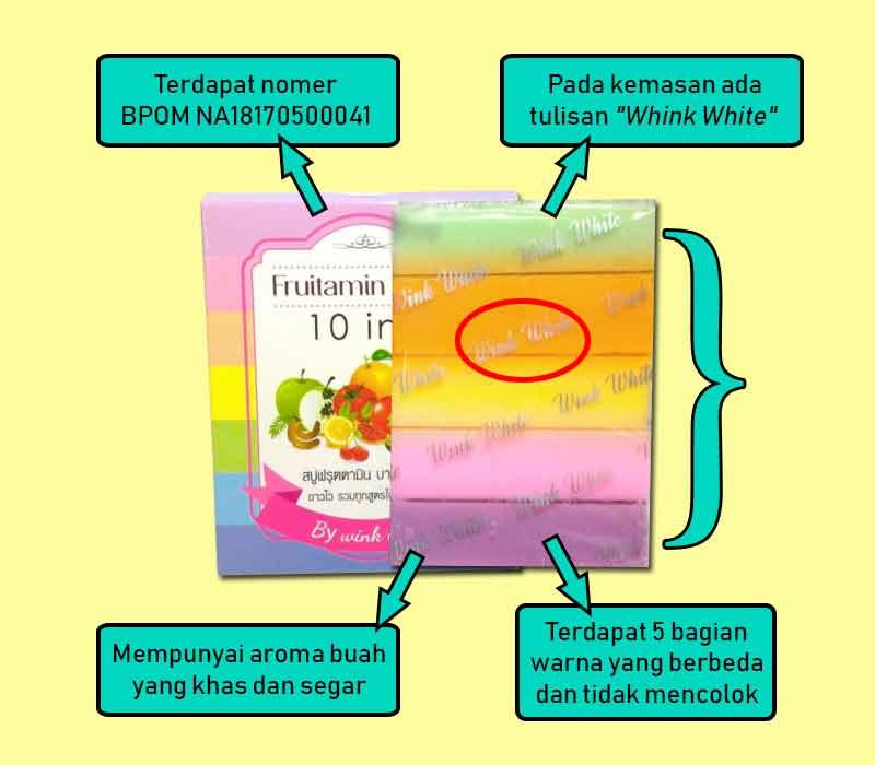 Perbedaan Fruitamin Soap Asli Dan Palsu