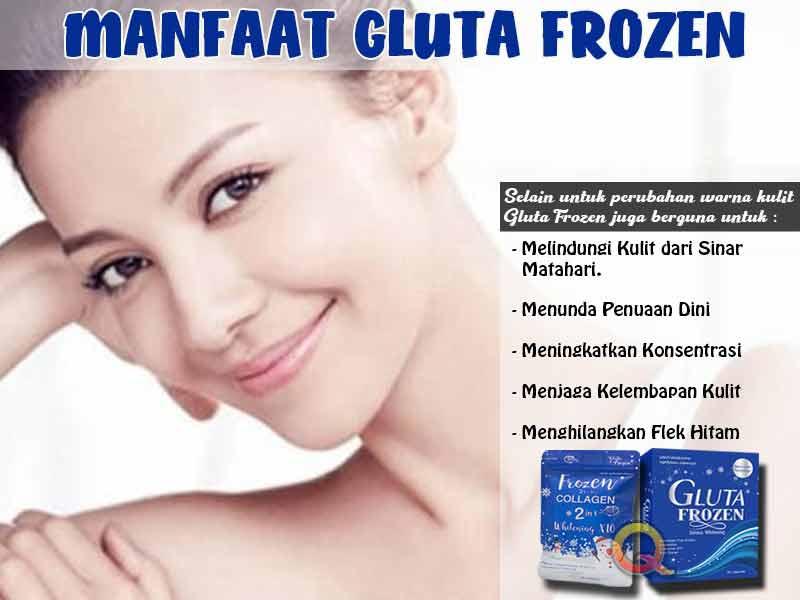 PROMO Suplemen Pemutih Kulit Gluta Frozen di Tabanan